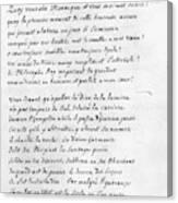 Voltaire Letter, 1740 Canvas Print