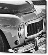 Volvo Black And White Canvas Print