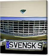 Volvo Grille Emblem -0198c Canvas Print