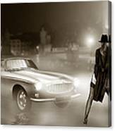 Volvo P1800 And Hot Detective Canvas Print
