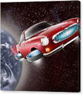 Volvo P1800 Goes Back To The Future Canvas Print