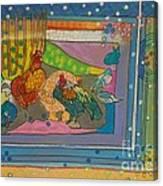 Vondelpark Chicken Canvas Print