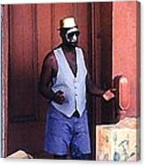 Voodoo Busker In New Orleans Canvas Print