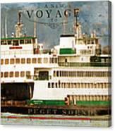 Voyage To Puget Sound Canvas Print