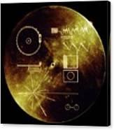 Voyager Spacecraft Plaque Canvas Print
