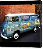 #vw #bus #marinelayershirts #venice Canvas Print