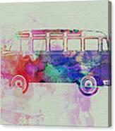 Vw Bus Watercolor Canvas Print