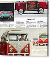 Vw Camper Collage Canvas Print