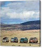Vws Lined Up Under A New Mexico Sky Canvas Print