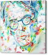W. B. Yeats  - Watercolor Portrait Canvas Print
