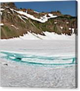 Wa, Goat Rocks Wilderness, Snow And Ice Canvas Print