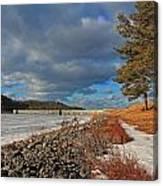 Wachusett Reservoir Frozen Canvas Print