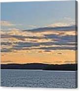 Wachusett Reservoir Sunset Canvas Print