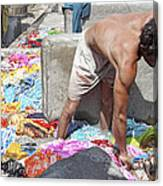Wadeing Through The Dirty Laundry Canvas Print