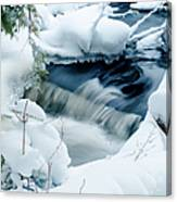 Wagner Creek In Winter Canvas Print