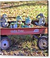 Wagon Full Of Frogs Canvas Print