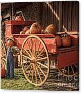 Wagon Full Of Pumpkins Canvas Print