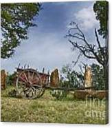 Wagon-hill Country Texas V2 Canvas Print
