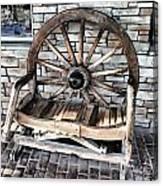 Wagon Wheel Chair Canvas Print