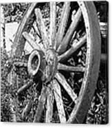 Wagon Wheel - No Where To Go - Bw 01 Canvas Print