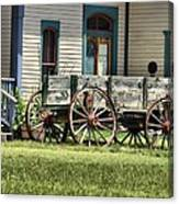 Wagon Wheels In Dodge City Canvas Print