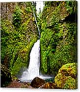 Wahclella Falls In Oregon Canvas Print