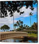 Waialae Beach Park Bridge Too Canvas Print