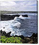 Waianapanapa Pailoa Bay Hana Maui Hawaii Canvas Print