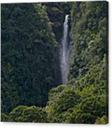 Wailua Stream Waiokane Falls View From Wailua Maui Hawaii Canvas Print