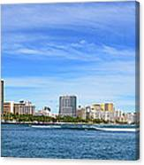 Waikiki And Diamond Head From The West Canvas Print