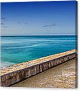 Waikiki Beach Walk Panoramic Canvas Print