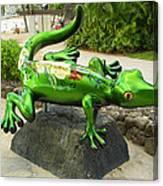 Waikiki Gecko Canvas Print