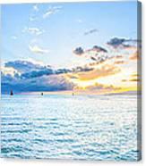 Waikiki Sunset After An Afternoon Thunderstorm Canvas Print