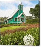 Waimea Church Canvas Print