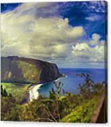 Waipo Valley Lookout-big Island Hawaii Canvas Print