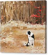 Waiting At Woods Edge Canvas Print