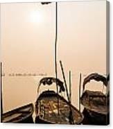 Waiting Boats Canvas Print