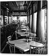 Waiting For Customers In New Orleans Mono Canvas Print