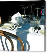 Waiting For Diners Canvas Print