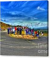 Waiting For The Cycle Race Canvas Print