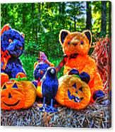 Waiting For The Great Pumpkin  Drybrush 01 Grunge Canvas Print