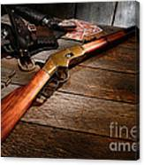 Waiting For The Gunfight Canvas Print