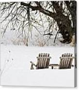 Waiting For The Right Season As An Oil Painting Canvas Print