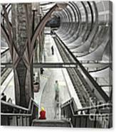 Waiting - Hollywood Subway Station. Canvas Print