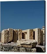 Waiting Tablets At Acropolis Canvas Print