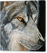 Waiting Wolf Canvas Print