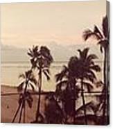 Waking Up On Waikiki Canvas Print