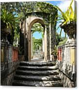 Walk In Vizcaya Gardens Canvas Print