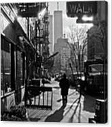 Walk Manhattan 1980s Canvas Print