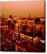 Walk Of Fame Hollywood In Orange Canvas Print